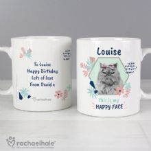 Personalised Rachael Hale 'Happy Face' Cat Mug P0805I18